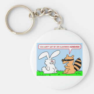 del fluffiness mapache del conejo para siempre llavero personalizado