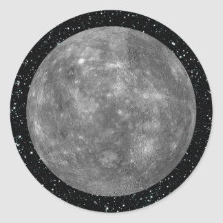 ~ del fondo de la estrella de MERCURY del PLANETA Pegatina Redonda