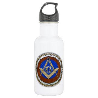 del freemason cuadrado y compás de la conspiración botella de agua