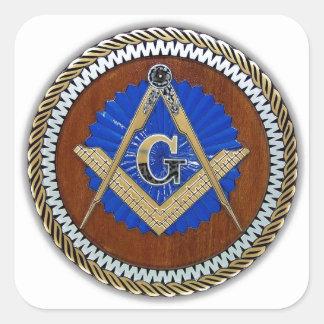 del freemason cuadrado y compás de la conspiración calcomania cuadradas