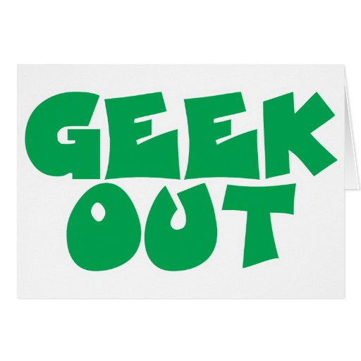 Del friki diseño verde del texto hacia fuera tarjeta