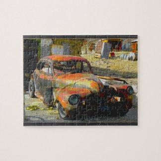 Del funcionamiento coche viejo abajo en Tonopah, Puzzle Con Fotos