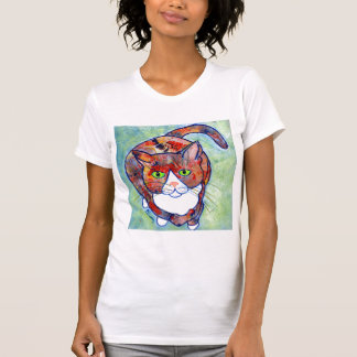 #@ del gatito del tecnicolor camiseta