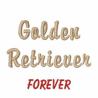 Del golden retriever camisa bordada para siempre - polo bordado