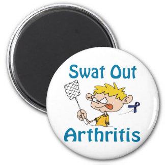 Del golpe violento imán de la artritis hacia fuera