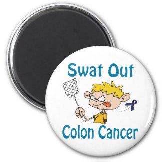 Del golpe violento imán del cáncer de colon hacia