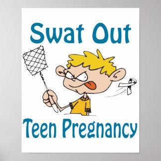Del golpe violento poster del Adolescente-Embarazo