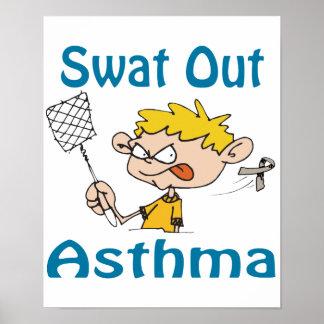 Del golpe violento poster del asma hacia fuera