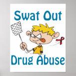 Del golpe violento poster del Droga-Abuso hacia fu