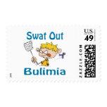 Del golpe violento sello de la bulimia hacia fuera