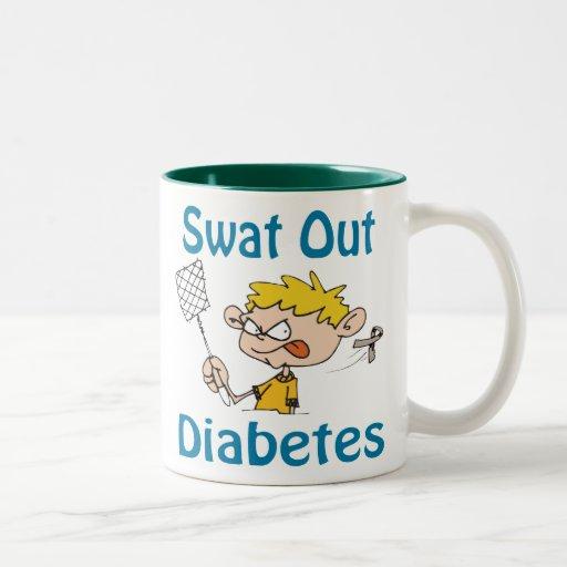 Del golpe violento taza de la diabetes hacia fuera