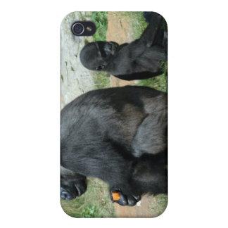 Del gorila del tiempo caso del iPhone 4 hacia fuer iPhone 4/4S Fundas