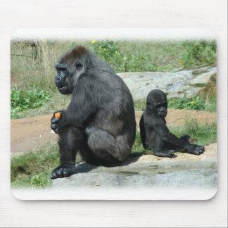 Del gorila del tiempo cojín de ratón hacia fuera tapete de ratón