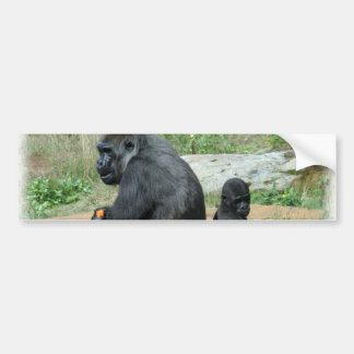 Del gorila del tiempo pegatinas para el parachoque etiqueta de parachoque