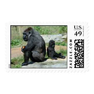 Del gorila del tiempo sello hacia fuera