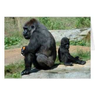 Del gorila del tiempo tarjeta de felicitación haci