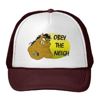 Del gorra de la boca de los caballos