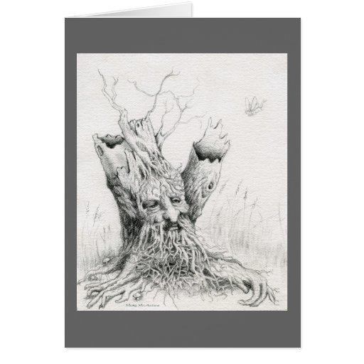 "Del ""grafito del alcohol del árbol viejo hombre"" tarjeta pequeña"