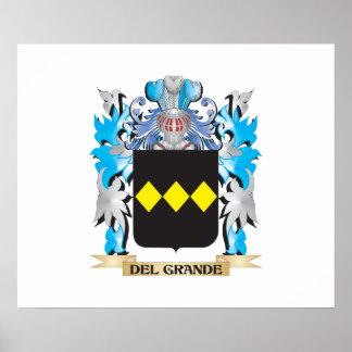 Del-Grande escudo de armas - escudo de la familia Posters
