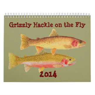 Del grisáceo de la pluma del cuello calendario 201
