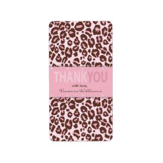 Del guepardo mini Hershey etiqueta de la barra del Etiquetas De Dirección
