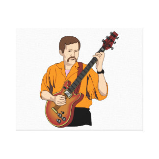 del guitarrista del varón naranja shirt.png del hu lienzo envuelto para galerías
