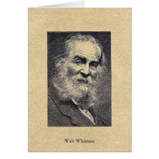 ❞ del ❝Happiness de Walt Whitman… en la postal del Tarjeta De Felicitación