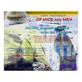 Del idioma de los ratones y de los hombres póster