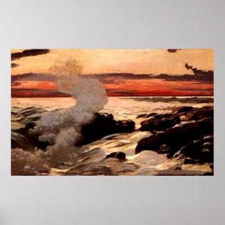 """Del """"impresión cuello de Prout"""" de Winslow Homer - Impresiones"""