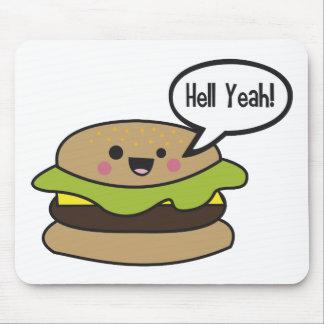 Del infierno hamburguesa sí alfombrillas de raton