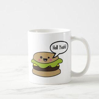 Del infierno hamburguesa sí tazas de café