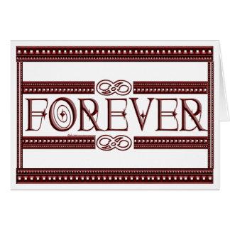 Del infinito tarjetas para siempre