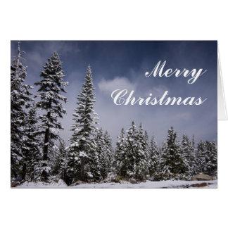 Del invierno tarjeta de Navidad otra vez