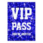 """Del """"invitación azul marino PASO del VIP"""" del Invitación 12,7 X 17,8 Cm"""