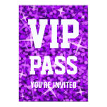 """Del """"invitación púrpura PASO del VIP"""" del Glitz"""