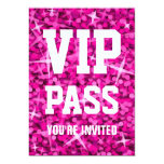 """Del """"invitación rosada PASO del VIP"""" del Glitz Invitación 12,7 X 17,8 Cm"""