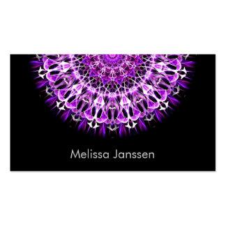 Del ir volando púrpura - Mandala Tarjetas De Visita