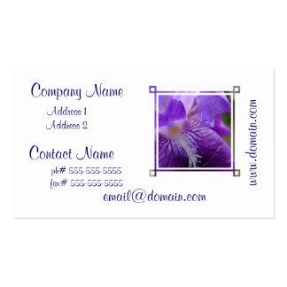 Del iris tarjetas de visita cercanas para arriba