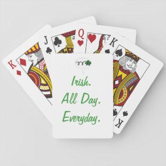 """Del """"irlandés cubierta diaria todo el día."""" de tar cartas de póquer"""