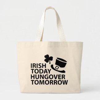 del irlandés día hungover de los ´s de St Patrick Bolsa Tela Grande