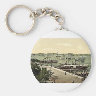 Del jardín del mar, el puerto, Kiel, Schleswig-H Llavero Personalizado