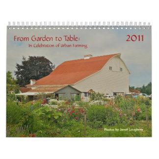 Del jardín para presentar el calendario