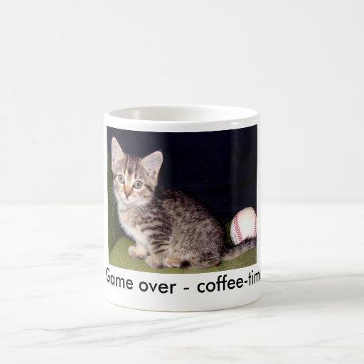 Del juego café-tiempo encima - taza de café