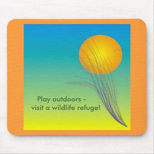 Del juego mousepad de la reserva al aire libre -