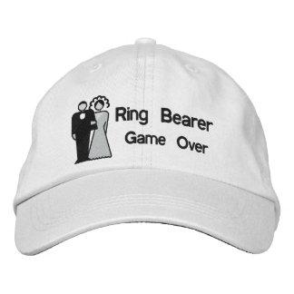 Del juego portador de anillo encima - gorras de beisbol bordadas