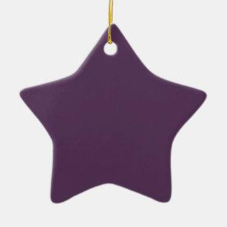 ~ del JUGO de UVA (un color de color morado oscuro Adorno De Cerámica En Forma De Estrella