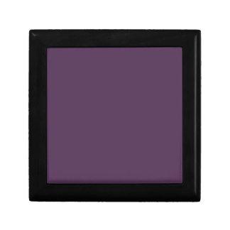 ~ del JUGO de UVA (un color de color morado oscuro Joyero Cuadrado Pequeño