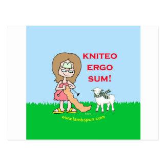 del kniteo lambspun de la suma ergo postales