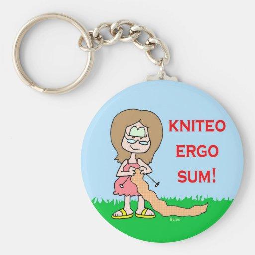 del kniteo suma ergo llavero redondo tipo pin