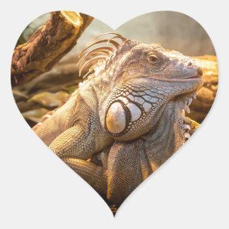 Del lagarto cierre para arriba pegatina en forma de corazón